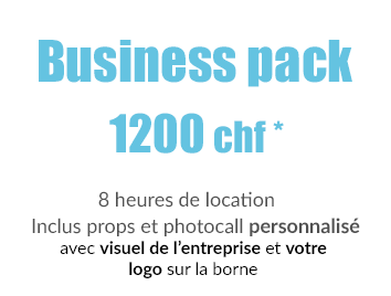 Location photobooth Easy photo en Suisse - Business pack 1200 chf 8 heures de location